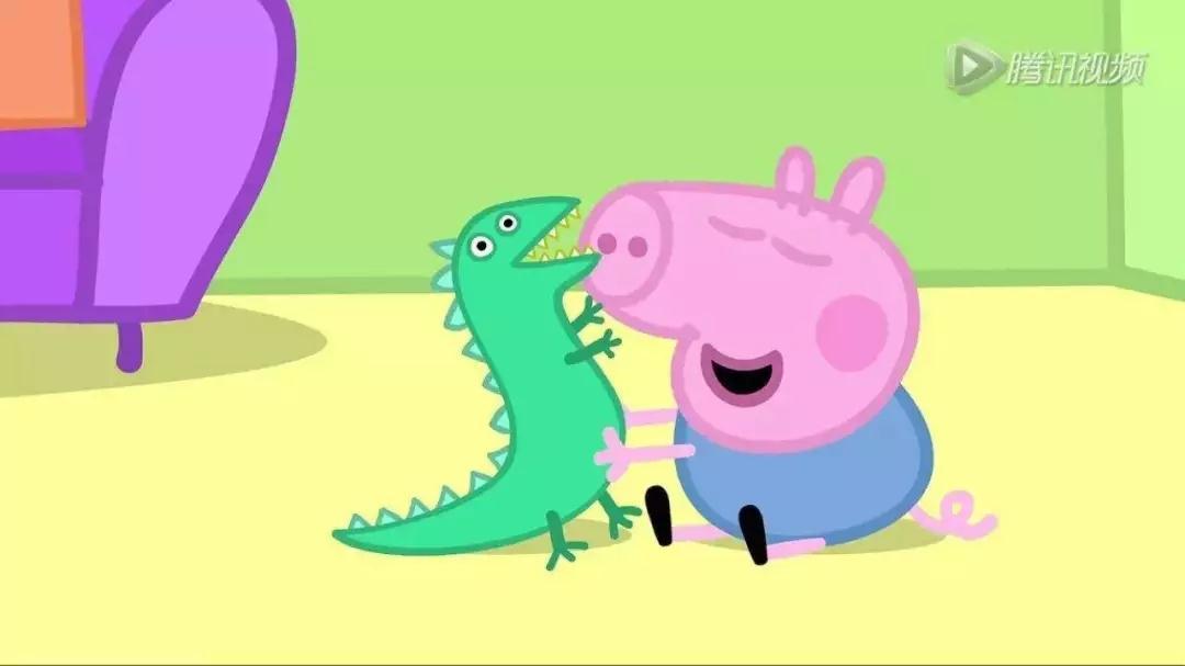"""乔治的恐龙丢了,猪爸爸帮着一起找,并先发现了恐龙但没有说,而是引导佩奇自己去发现,然后大方地称赞:""""干得好,你真是个出色的侦探!"""""""