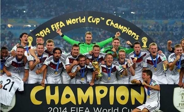 2014德国队在巴西世界杯上加冕成功